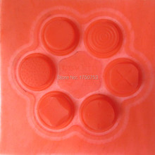 For PSV Red Analog D-Pad Joysticks Button Thumbstick Cover Kit For Playstation PS VITA 1000 /2000