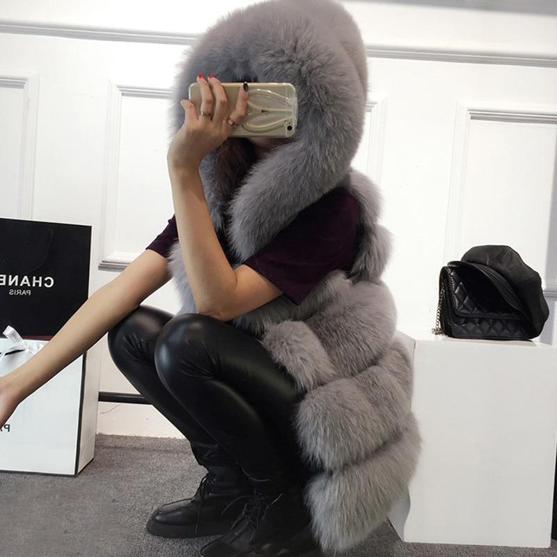 Faux Fox Fur Vest 2