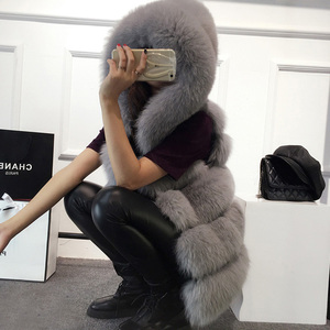 Image 3 - Hohe qualität Pelz Weste mantel Luxus Faux Fuchs Warme Frauen Mantel Westen Winter Mode pelze frauen Mäntel Jacke