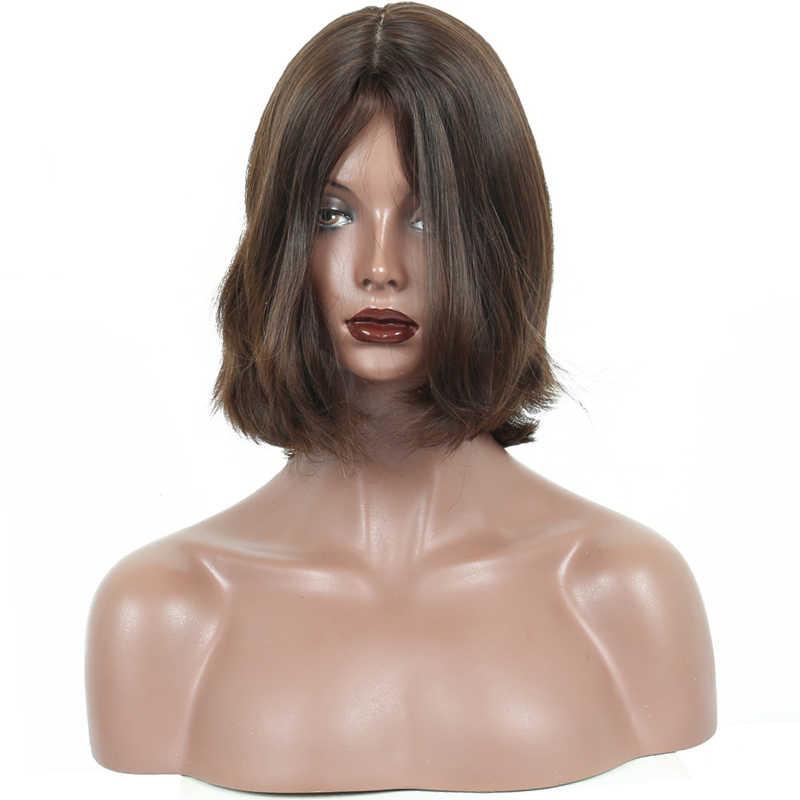 Yahudi peruğu 100% Işlenmemiş Avrupa Bakire Saç Doğal Dalgalı Koşer Peruk kısa insan saçı Peruk Bob Ücretsiz Kargo Hiç Güzellik