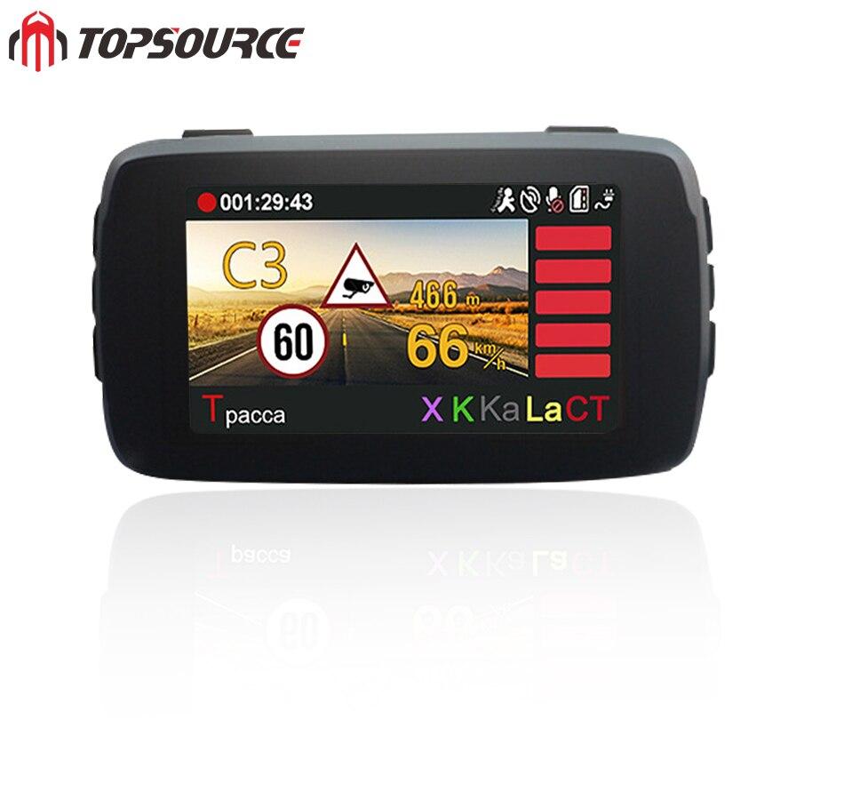 TOPSOURCE Auto Video DVR Camear Detector GPS 3 in 1 Ambarella Auto-detector HD 1080 P Recorder Griffier Anti Radar Dashcam WDR