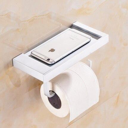 US $35.62 12% OFF|Bad Handtuch Box Raum Aluminium Handtuchhalter Badezimmer  Toilettenpapierhalter Kann Eine Handyhalter-in Badezimmer Zubehör-Sets aus  ...