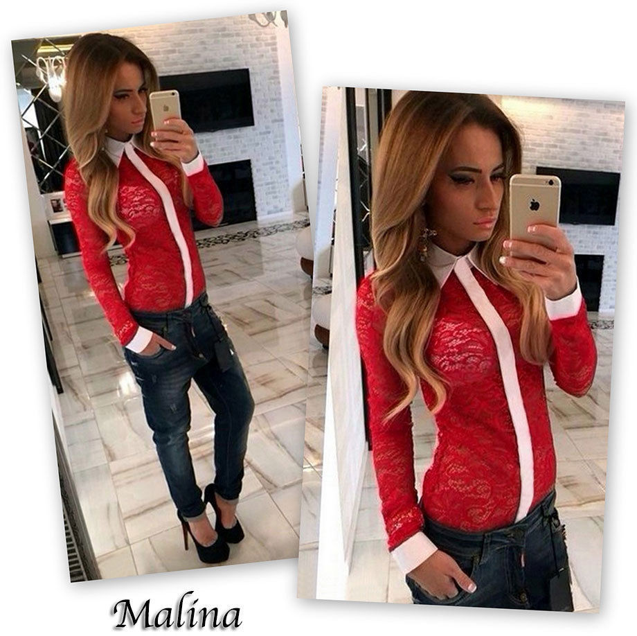 2017 New Design Womens full sleeve lace crochet embroidery blusa tops casual patchwork hollow out blouse