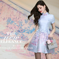 New Fashion Positioning Jacquard Fabric High grade Yarn Jacquard Fabric China Landscape Cheongsam Dress Damask Fabric