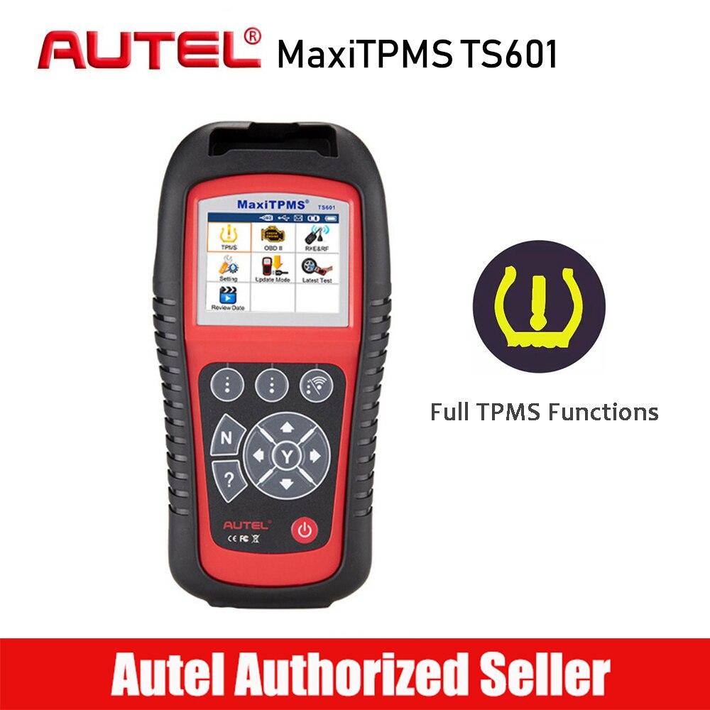 AUTEL MaxiTPMS TS601 TPMS Programmeur Voiture De Diagnostic outil d'analyse Activateur Pneu Capteur Moniteur OBD2 outil de balayage 315 433 Capteurs