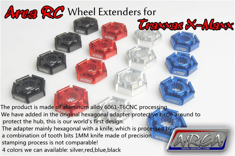 Area RC wheel extenders for Traxxas X-Maxx 1/5 area rc alloy suspension arm for traxxas x maxx 1 5