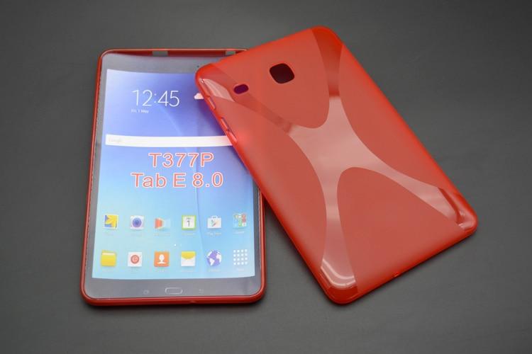 Anti-Skid Matte X Line Soft Silicon Rubber TPU Gel Cover Protective Case For Samsung Galaxy Tab E 8.0 T377 T377V SM-T377 T375