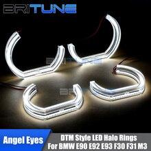 Светодиодный Ангельские глазки горки DRL 3D LCI DTM Стиль для BMW E90 E92 E93 F10 F30 F31 E60 E82 E87 M5 модернизации аксессуары белый желтый