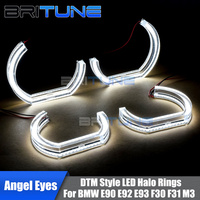LED Angel Eyes Switchback DRL 3D LCI DTM Style For BMW E90 E92 E93 F30 F31 E60 E82 M3 M4 M5 Retrofit Accessories White Yellow