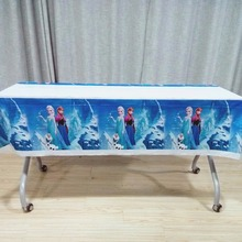 108cm*180cm KIDS Girl Frozen Anna Elsa the First Party Supplies TableCloth Favor Kid Birthday Festival DecorationParty