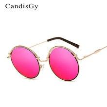 Redondo de la manera Gafas de Sol Mujeres Espejo 2017 Nuevo Diseñador de la Marca de la Señora Mujer Hombres gafas de Sol UV400 Marco Del Metal