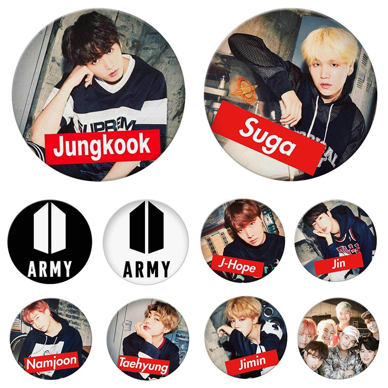 Badges Home & Garden Jewelry Accessories Korean Kpop Bts Bangtan Boys Lovers Jewelry Gift Backpack Decor Brooches Love Self Answer Clothes Hat Wide Varieties