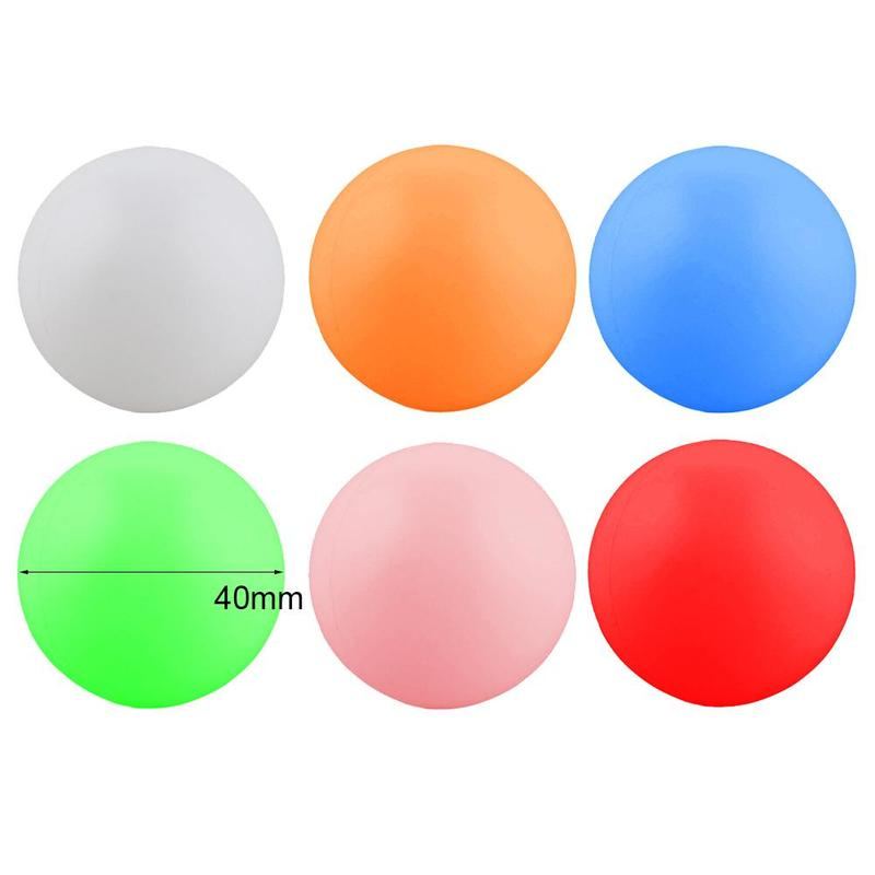 10 Pcs Table Tennis Balls Outdoor Sports Colorful 6 Colors