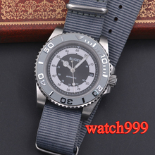 40mm bliger grey dial ceramic bezel date sapphire glass Luminous Solid case Nylon strap mechanical automatic mens watch