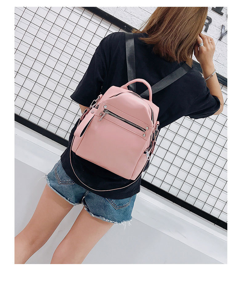 Multi-function Solid Travel Shoulder Bag Backpack