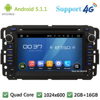 Quad Core 1024 600 Android 5 1 1 Car DVD Player Radio DAB 4G For GMC