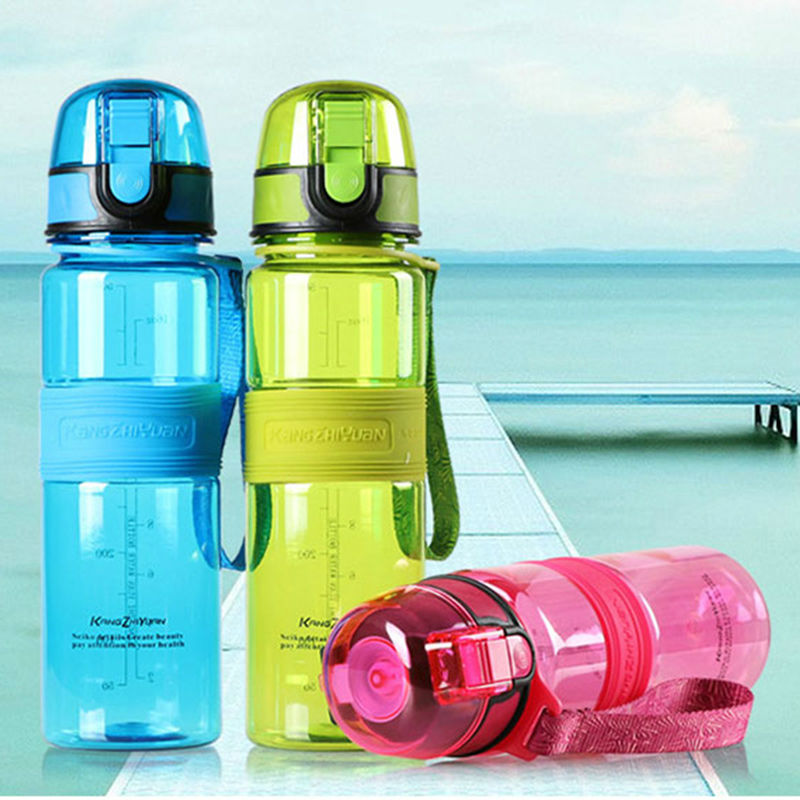 Plastic Sports Water Bottle 500ml Leak Proof Bicycle Hiking Cycling Running Sport Shaker My Water Bottles