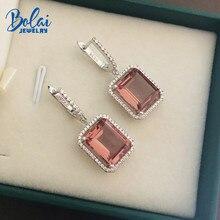 Bolai color change zultanit dangle earrings 925 sterling silver eleglant nano diaspore  gemstone for women wedding 2019