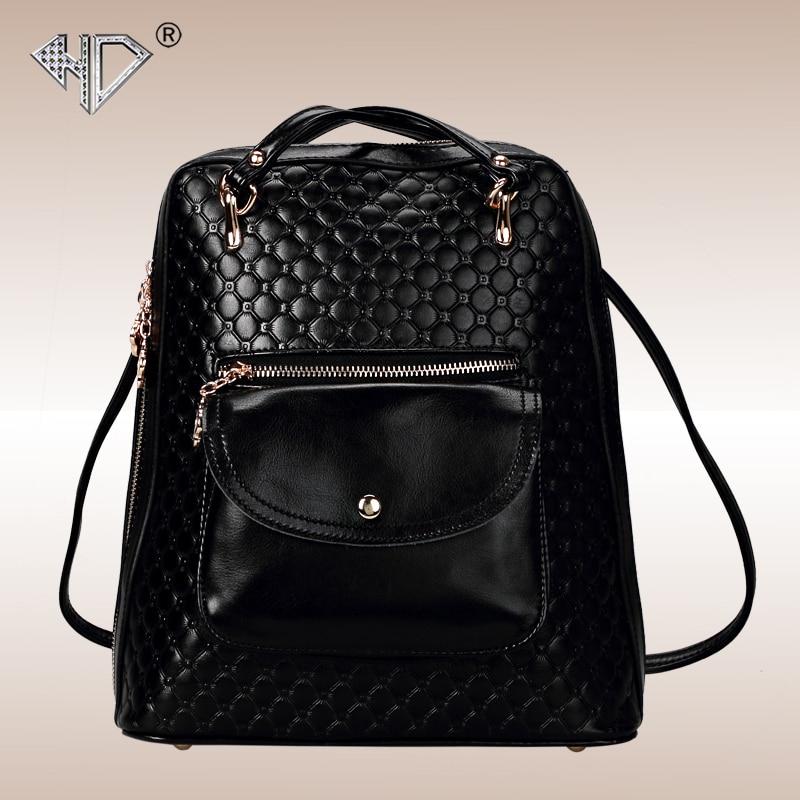 2017 Rushed Sale Genuine Leather Messenger Bags For Women Zipper Bucket Rucksack Crossbody Shoulder Bag Split Purses
