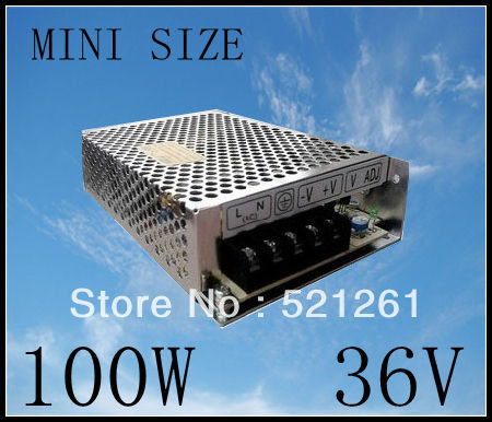 DIANQI power supply 100W 36V 2.8A power suply unit 100w 36v mini size din led  ac dc converter ms-100-36 spe 100w 12v 100w 8 3a led power supply converter black