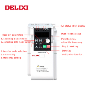 Image 3 - DELIXI AC 0.4 2.2KW 220V 단상 입력 3 상 출력 50HZ 60HZ 주파수 변환기 모터 속도 컨트롤러 인버터
