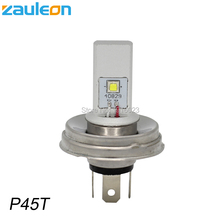 Zauleon 1pcs Motorcycle P45T LED Bulbs Headlight Car font b Lamp b font for Scooter Moped