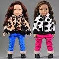 Новое Прибытие 2 шт./компл. Свободное Пальто + Брюки Для American Girl Куклы 18 Дюймов Одежды Куклы И Аксессуары