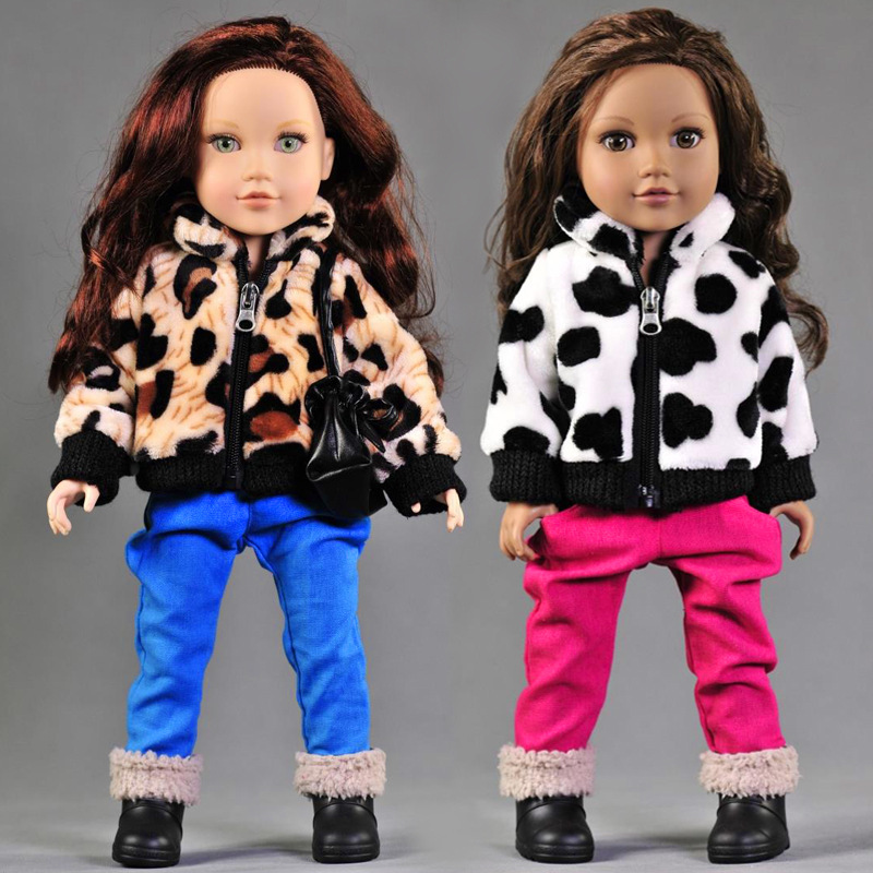 New Arrival 2pcs/set Leisure Coat+Pants For American Girl Doll 18 Inch Doll Clothes And Accessories american girl doll clothes halloween witch dress cosplay costume for 16 18 inches doll alexander dress doll accessories x 68