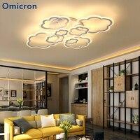 Омикрон современный светодио дный люстры оригинальность облака яркая светодио дный лампы Мощность для экономии Гостиная Спальня Home Decor Light