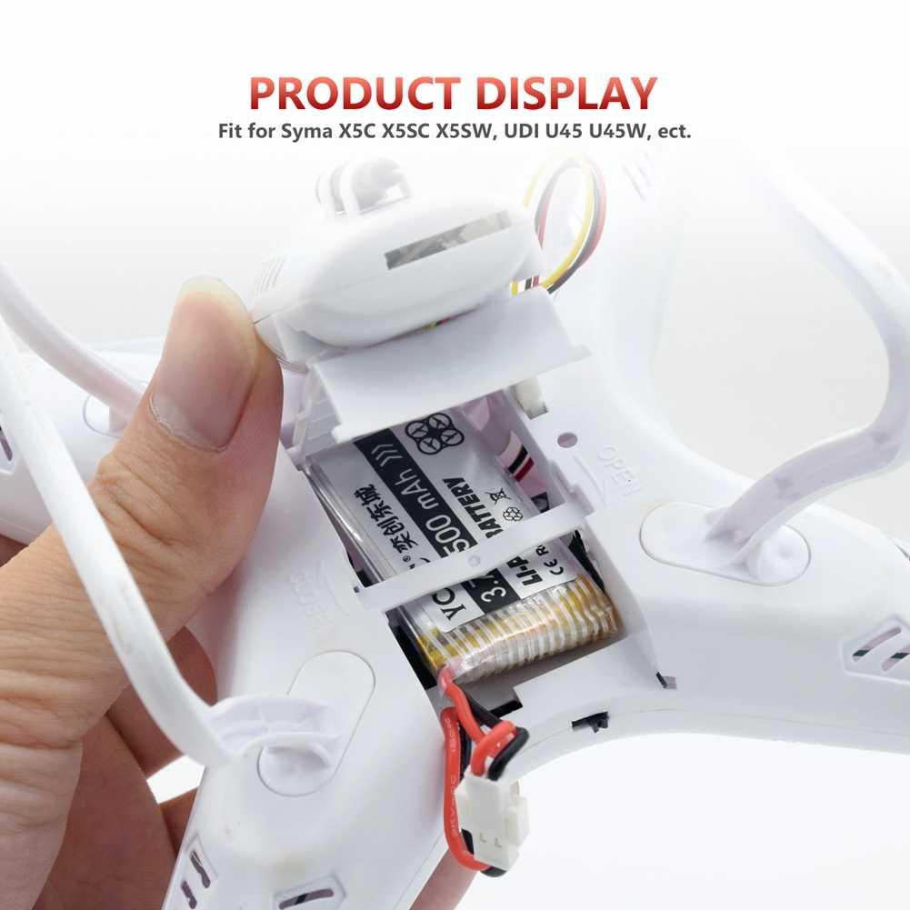 YCDC li-po batterie 3.7V 380-1200 mAh pour Syma X5C X5SW X5C-1 H107 Hubsan Drone Batteries rechargeables pour caméra quadrirotor