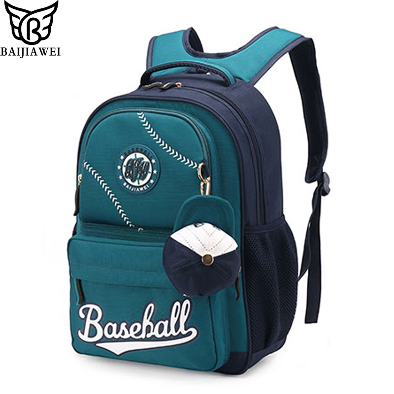 BAIJIAWEI Children Waterproof Backpack In Primary School Backpacks Children School Bags For Boys Girls Mochila Infantil Zip