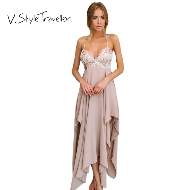 fb4368de1ed0e Sexy Beach Dress Women Asymmetrical Maxi Camis Summer Style Casual ukraine  vestido de festa Cheap Clothes China Resort Dresses