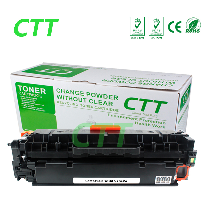 CF410X 410X cf410 cf410x (1 Pack) Black Laser Toner Cartridges Compatible for HP Color LaserJet Pro M452dn/M477fdw/M477fnw black toner cf400a 400a 2 pack toner cartridge compatible for hp color laserjet pro m252dw with chip