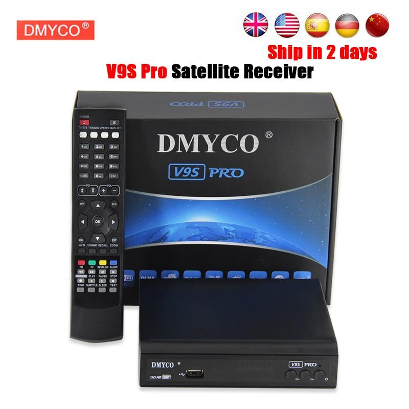 DVB-S2 DMYCO V9S PRO Receptor Full HD 1080p satellite Decoder Support BISS Key Powervu Youtube clines iptv satellite receiver freesat v8 super receptor satellite receiver support powervu dre
