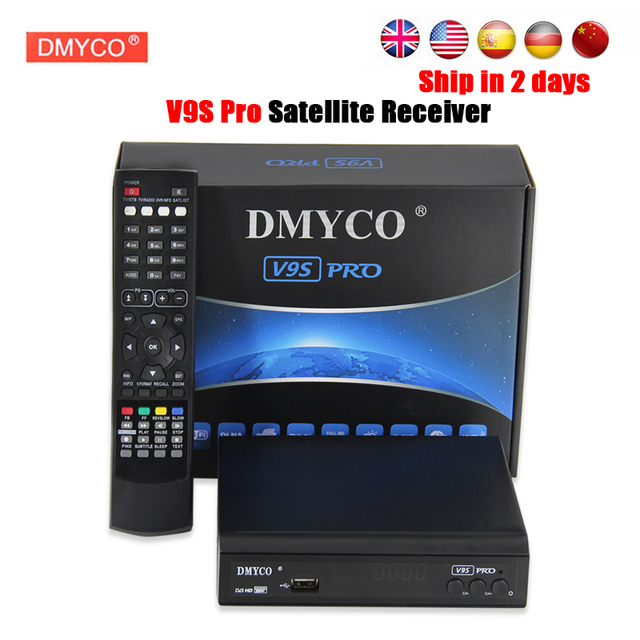 DVB-S2 DMYCO V9S PRO Receptor Full HD 1080p satellite Decoder With USB WIFI Support BISS Key Powervu Youtube satellite receiver