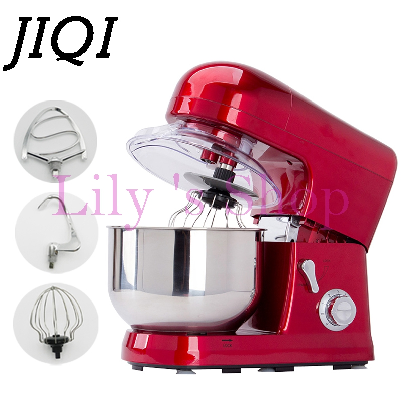 Home use 5 Liters electric food mixer commercial 6 Speed Tilt-Head Stand Mixers eggs beater cake dough mixing machine 110V 220V head speed 25 gr07 234856