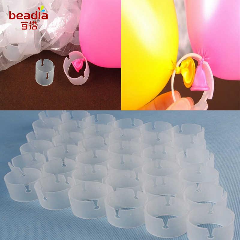 Nova 50 pcs/sacos Botões de Forma Redonda Balões Balão de Vedação Clipe Clipes DIY Casamento/Aniversário/Festa de Natal Suprimentos Decoração