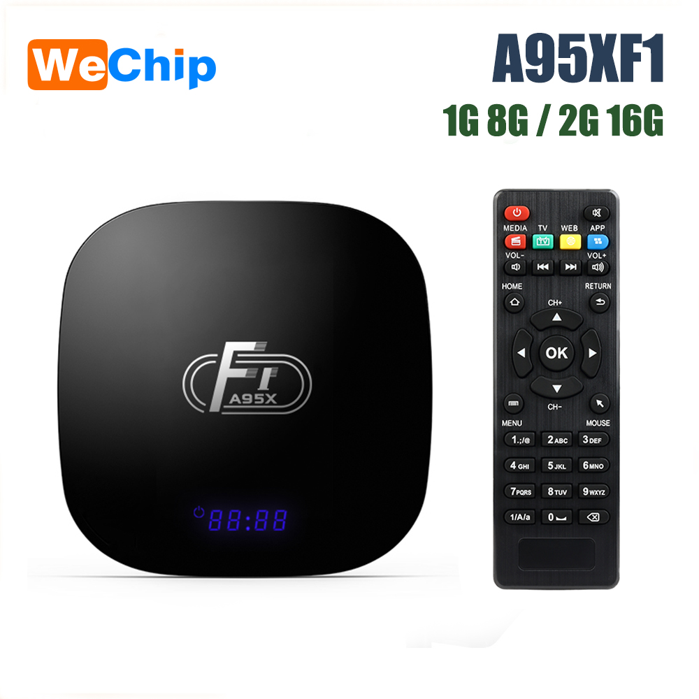 Wechip IPTV Android Set-Top-Box Support S905W Wifi A95XF1 1080P H.265 Amlogic LAN 100M