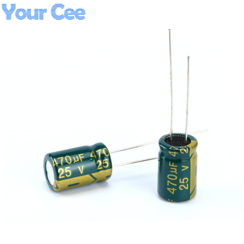 100 Pcs Electrolytic Capacitors High Frequency 25V 470UF 8X14MM Aluminum Electrolytic Capacitor