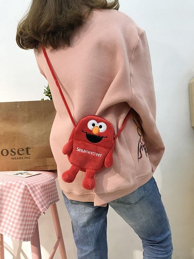 Lovely Cartoon Chain Bag Winter Plush Backpacks Lady Fashion Love Soft  Diagonal Bags Shoulder Bag Free Shipping BG-73