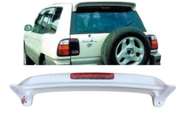 JIOYNG ABS UnPainted Car Rear Wing Trunk Lip Spoilers Fits For Toyota <font><b>RAV</b></font> <font><b>4</b></font> 1995 1996 <font><b>1997</b></font> 1998 (With LED Lamp) image