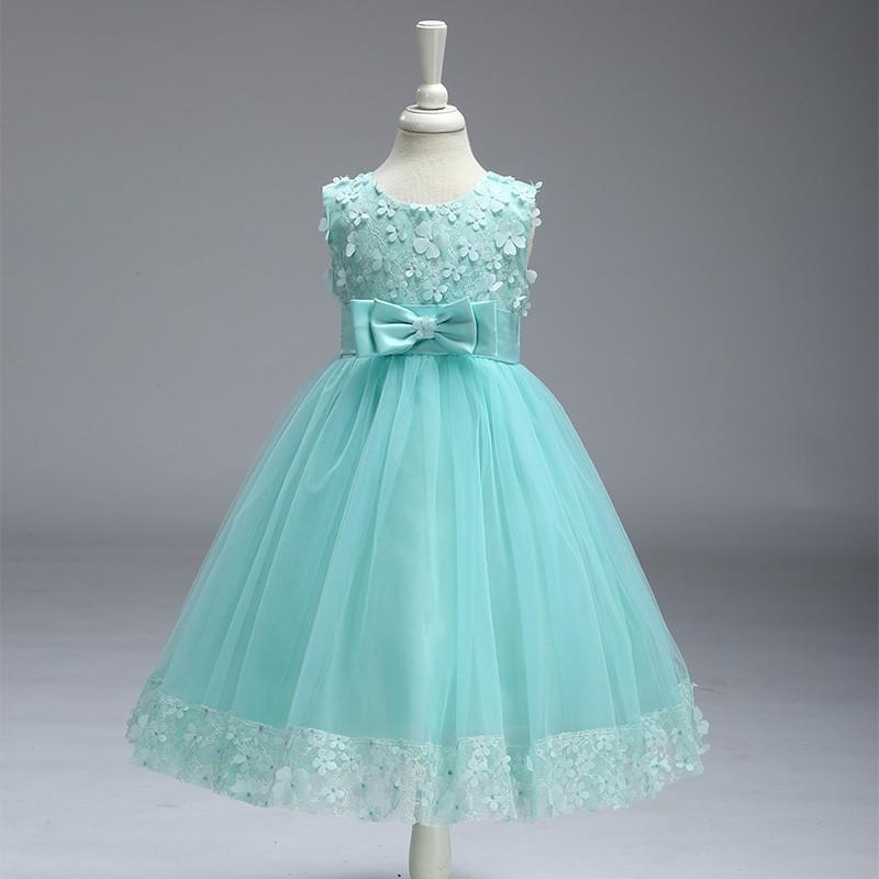 Kid Girl Party Dress Flower (14)