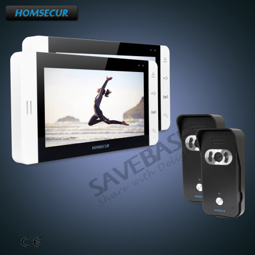 HOMSECUR 7 Hands-free Video&Audio Home Intercom+White Monitor for House/Flat+Russian Logistics