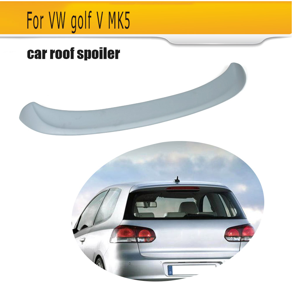 PU Car Roof Spoiler Boot Lip Wing For VW Golf V MK5 Standard Bumper Non GTI