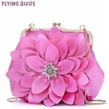 Роскошная сумка через плечо из натуральной кожи, яркие вечерние клатчи, сумки-Хобо, цветы, цепи, крест-накрест, женские A10520/a