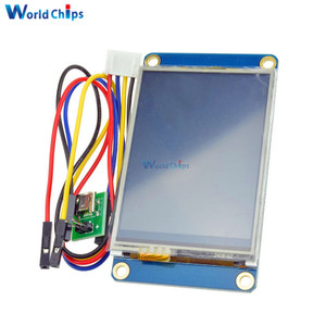 """English Nextion 2.4"""" TFT 320 x 240 Resistive Touch Screen USART UART HMI Serial LCD Module Display For Arduino Raspberry Pi 2 A+(China)"""