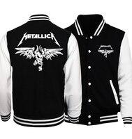 2018 Mùa Xuân Nóng Bán Ban Nhạc Rock Metallica Nam Áo Khoác Áo Khoác Fashion Bóng Chày Áo Khoác Hoodies Outwear Cộng Với Kích Thước Hipster Men Áo Khoác