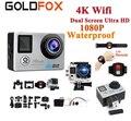 Ultra HD 4K Actie Camera Wifi 1080P 16MP Dual Screen 170D Gaan Waterdicht Pro Helm cam 4K sport Camera Mini DVR + Afstandsbediening