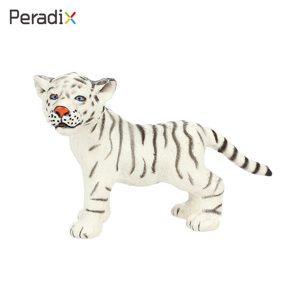 1PC White Tiger Model White Tiger Toy Animal Model Puzzle Decoration Real Looking Entertainment Small Tiger Model Gift For Kids