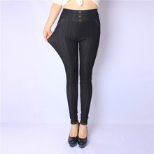 2016 New Arrival Spring and Autumn style High Quality big elastic Denim soft 5XL Plus size 100kg leggings women pants